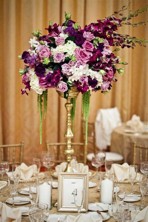 tall purple centerpiece matrimonio pinterest
