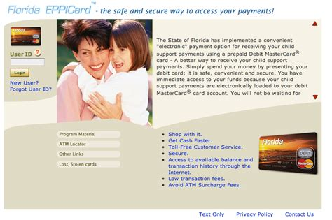 child support florida phone number www eppicard florida eppicard help