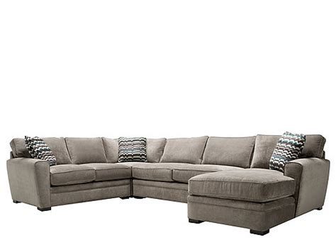 artemis ii 4 pc microfiber sectional sofa sectional sofas raymour and flanigan furniture - Artemis Ii 4 Pc Microfiber Sectional Sofa