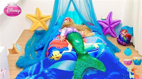 アリエル お姫様ベッド 人魚姫のベッドルーム ディズニープリンセス diy mermaid ariel bedroom canopy bed disney