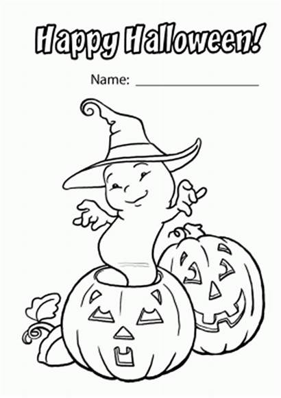 Halloween Coloring Happy Pages Pumpkin Ghost Printable