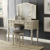 makeup vanity furniture Poundex Bobkona Vanity Set | eBay