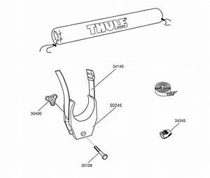 Spare Parts For   Thule Windsurfer Carrier For Square Bars 533