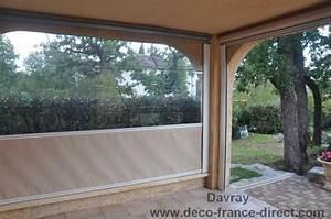Rideau coupe vent pour terrasse dootdadoocom idees de for Rideau exterieur pour pergola 18 toile bache pergola voile ombrage store banne