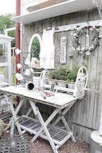 Gartenhaus Shabby Chic : i pr ce na zahr dce m e b t stylov shabby chic garden table for pots sch ner garten ~ Markanthonyermac.com Haus und Dekorationen