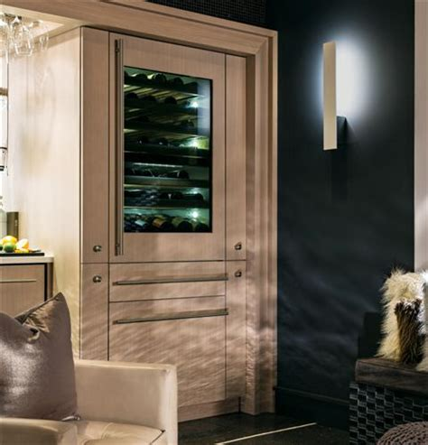 ziwgnzii monogram  fully integrated wine refrigerator monogram appliances