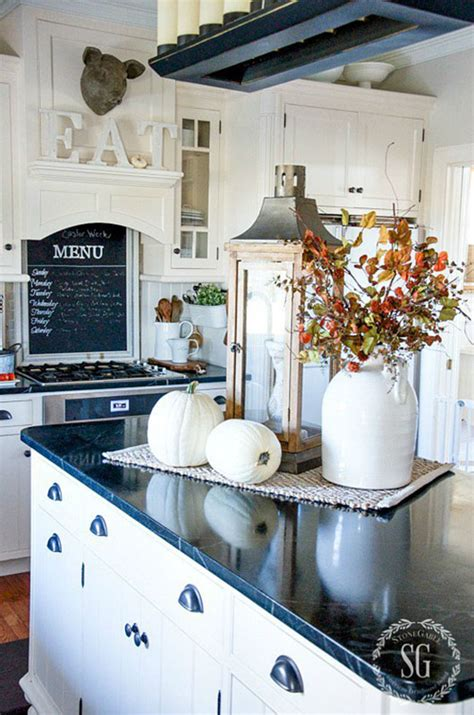 kitchen island centerpieces room by room fall decor kitchen dining room sense 1862