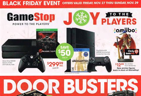 Gamestop Black Friday 2015 Leaked Ad Ps4, Xbox One And Games Bgr