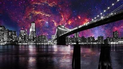 Francisco San Night Bridge California Sky Usa