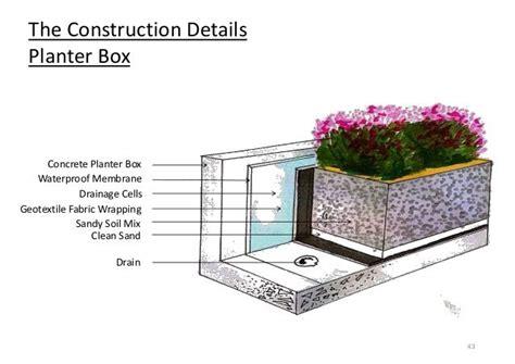 waterproofing concrete planters cement planter box plans search decks
