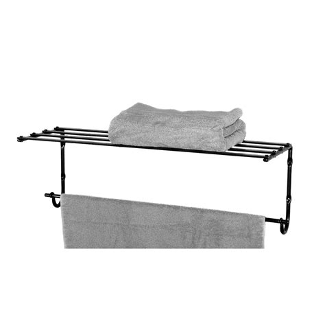 towel shelf with towel bar wrought iron home accessories