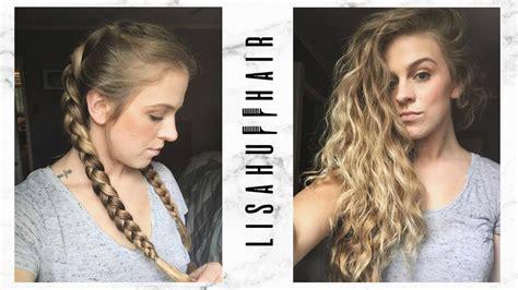 heat hairstyle overnight dutch braids  big waves