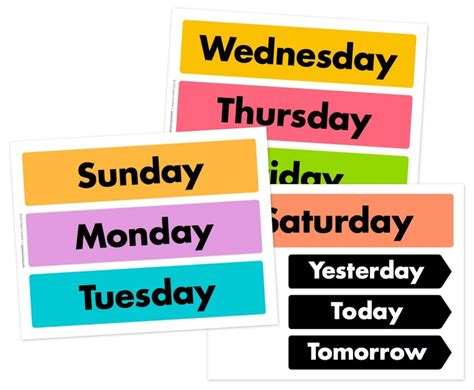 days   week  weather wheel printables