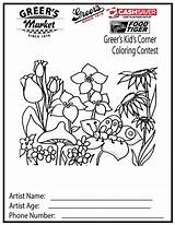 Coloring Pages Spring Printable Corner Flower Adult Garden Sheets Sheet Colouring sketch template