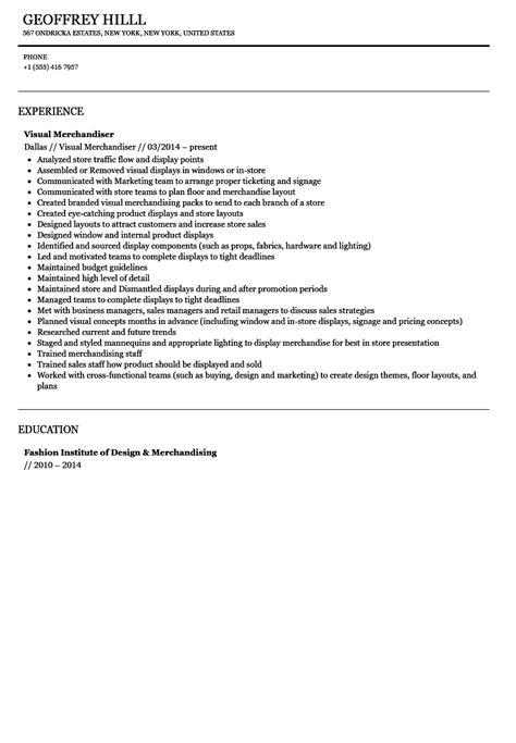 Visual Merchandiser Resume by Visual Merchandiser Resume Sle Velvet