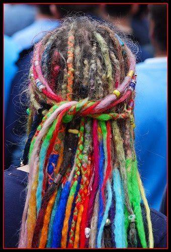 colored dreadlocks colorful dreads on