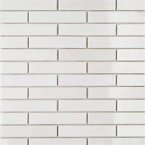 Shop For White Thassos 34 X 4 Big Brick Pattern Marble