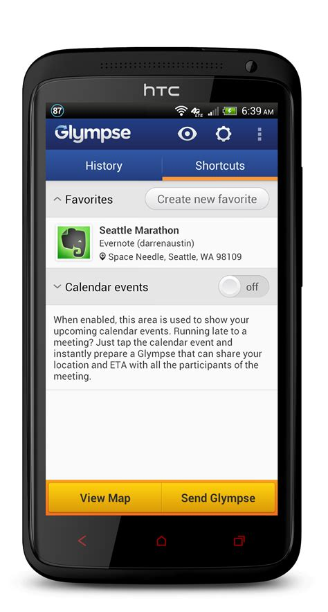 glympse android evernote app center