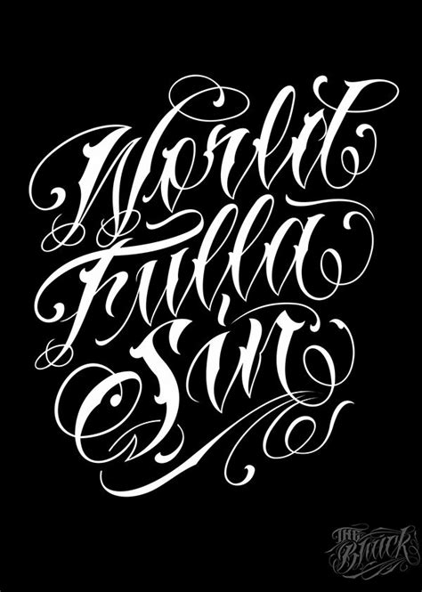 Lettering 4 on Typography Served | Tattoo lettering design