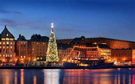 wallpapers stockholm christmas tree sweden