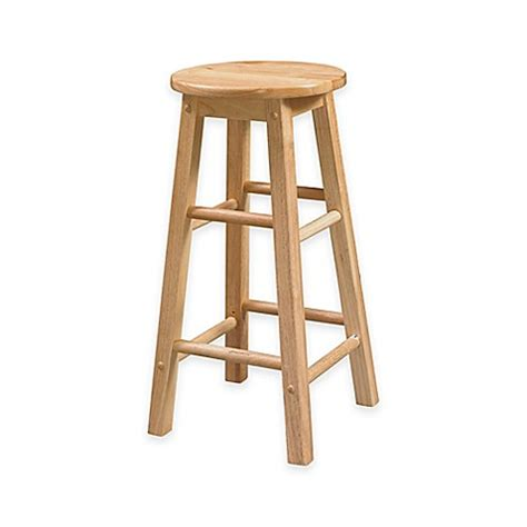 classic wood stools   seat  natural finish