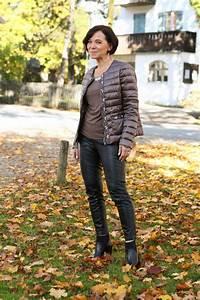 Sportliche Outfits Damen : sportliche eleganz in edler steppjacke und coolem leder von madeleine mature fashion ~ Frokenaadalensverden.com Haus und Dekorationen