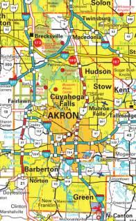 Summit County Ohio Road Map