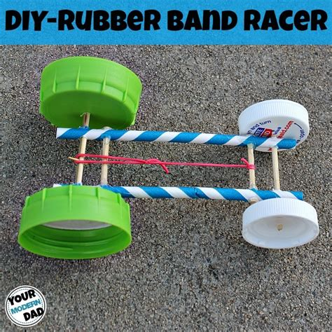 diy rubber band racer your modern