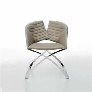 Fauteuil Pied Metal : fauteuil design pied traineau m tal et coque synth tique portofino midj 4 ~ Teatrodelosmanantiales.com Idées de Décoration