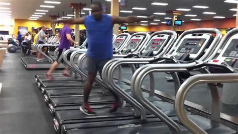 man dancing  treadmill youtube