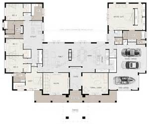 bedroom house floor plan inspiration the 25 best u shaped house plans ideas on u