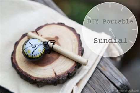 diy portable sundial imagine childhood magic