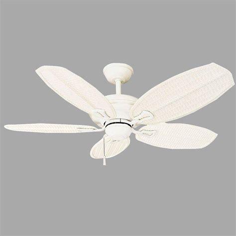 Hton Bay Ceiling Fan Wicker Blades by Hton Bay Palm Ii 48 In Matte White Ceiling Fan
