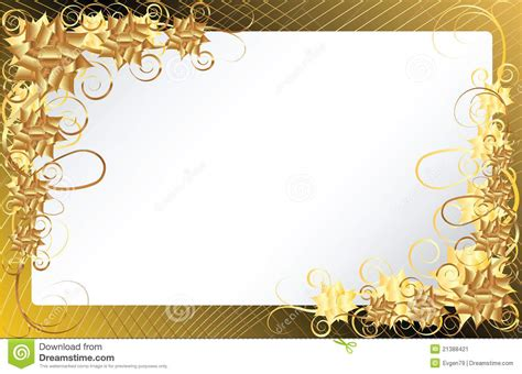 gold floral frame background stock image image