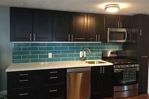 Hometalk turquoise subway tile backsplash for Turquoise tile backsplash