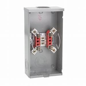 Milbank 200-amp 4 Terminal Ringless Overhead Meter Socket-r7021-rl-tg