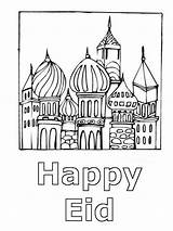 Eid Coloring Pages Template Card Happy Familyholiday Ramadan Fitr Al Internet Holiday sketch template