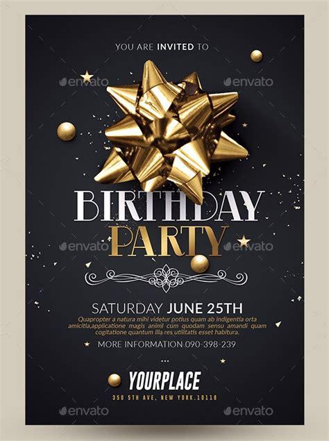 birthday party invitation designs word psd ai