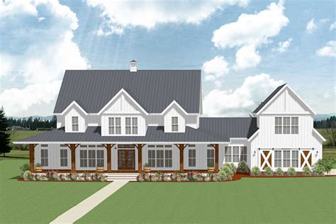 5-bedroom Farmhouse Plan With Optional Garage Loft