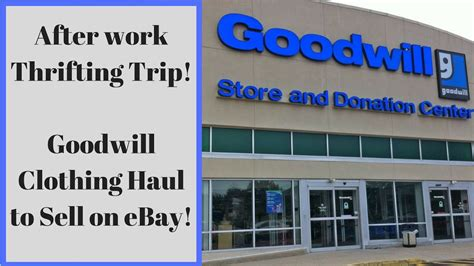 goodwill mens clothing haul  sell  ebay afterwork