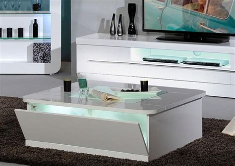 White Coffee Table Gloss Square White Coffee Table With