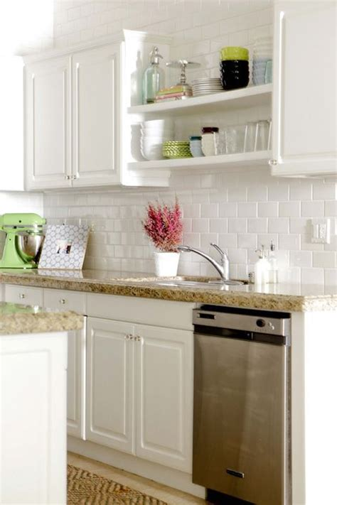 shelves above kitchen cabinets open shelving above sink to add brightness where there is 5181