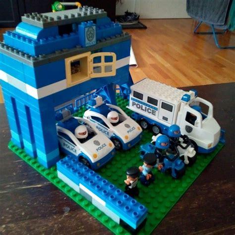 lego selber bauen anleitung lego duplo polizeistation selbstgebautes ohne anleitung