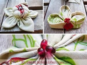 Création Avec Tissus : diy cr er des barrettes fleurs japonaises eco createurs co cr ation diy cr ations ~ Nature-et-papiers.com Idées de Décoration