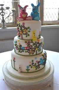 Pretty Homemade Wedding Cake