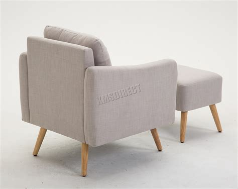 Foxhunter Fabric Armchair Lounge Tub Chair With Foot Stool
