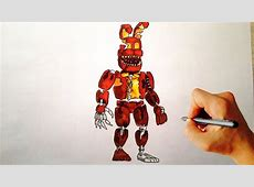 How to draw Jack O Bonnie from FNaF 4 Halloween edition