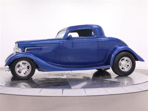 1933 Ford 3 Window Coupevette Rear Endnew Interior For