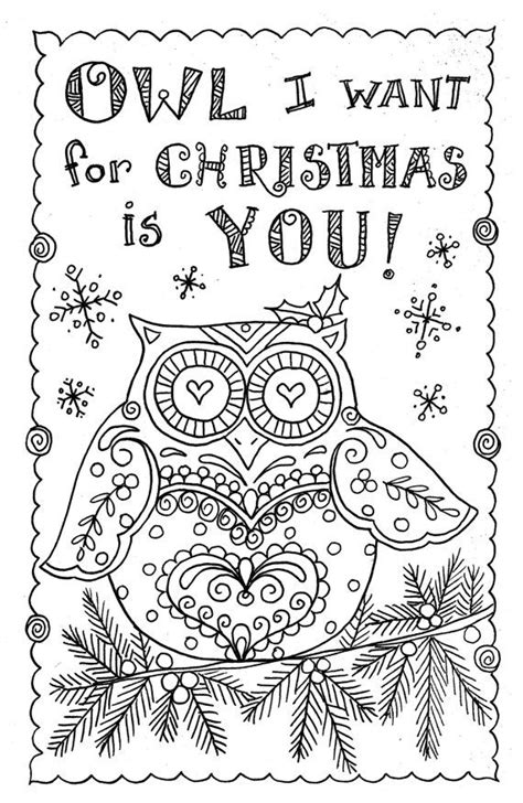 unique coloring christmas cards ideas  pinterest