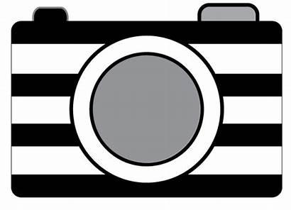 Camera Clip Clipart Striped Printables Snapshot